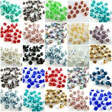 Wholesale 500Pcs Faceted Bicone Crystal Glass Beads Loose Spacer Findings 4mm