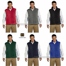 Harriton Mens Fleece Vest S M L XL 2XL 3XL 4XL M985