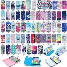 Fashion Flip Printed PU Leather Holder Case Cover For Samsung Galaxy S5/S5 Mini