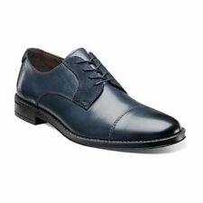 Stacy Adams Men's Caldwell Oxford Navy Cap Toe Leather Shoe Style# 24904-410