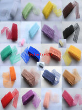 Brand new 10 yards bilateral embroidery lace Net Lace Trim ribbon Color choices