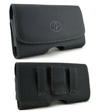 Leather Horizontal Sideways Belt Clip Case Pouch Holster for Huawei Cell Phones