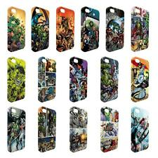 Full Wrap DC Marvel superhero comic book cover case for Apple iPhone - W21