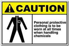 Caution Sign Personal Protective Clothing Is To Be Worn aluminum metal sign OSHA
