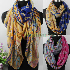 Women's Vintage Floral&Paisley&Dots&Stripes Print Casual Long/Infinity Scarf New