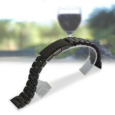 18/20/22/24mm Straight End Stainless Steel Watch Band Strap Bracelet Black