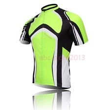 New Cycling Bike Short Sleeve Top Shirt Clothing Bicycle Sportwear Jersey Green