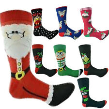 Mens Womens Christmas Novelty Socks Elves Stocking Filler Gift Xmas Cute Santa