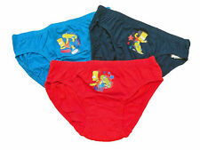 New Design for 2012 Boys Official Bart Simpson Cartoon Character Briefs 6 pack