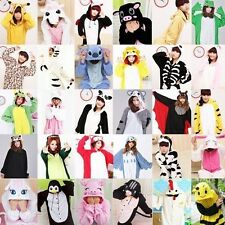 Adult Unisex Fleece Kigurumi Animal Costumes Onesies Pajamas Cosplay Sleepwear -