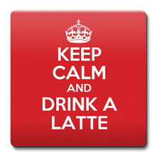 KEEP CALM and Drink a Latte - Coaster Gift Idea present coffee