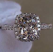 Brand Jewelry Womens White Sapphire 925 Silver Filled Wedding Ring Size 5-11