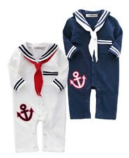 StylesILove Baby Boy Sailor Anchor Costume One Piece Romper - 2 Colors