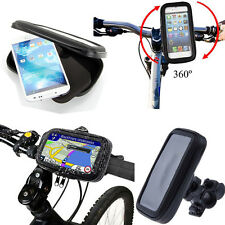 Bike Bicycle Handlebar Mount Holder Waterproof Case for Various HTC Mobile Phone