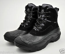 LABO Men's Premium Black Winter Snow Boots Shoes Waterproof Insulated EVA Sole