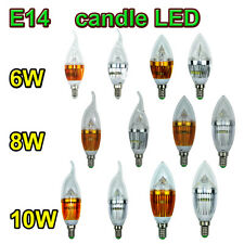 Ampoule E14 Bougie LED Cree Candle Chandelier Lampe Bulb Dimmable 6/8/10W Promo!