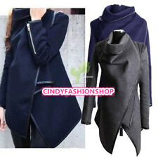New Fashion Womens Slim  Long Basic Jacket Trench Windbreaker Parka Outwear