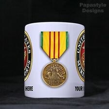 US Marine Corps Service Medals Personalized 11oz Coffee Mugs Made in the USA.