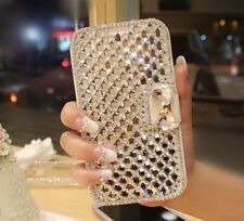 Bling Luxury Diamond Crystal Leather Stand Wallet Case Cover For Samsung GALAXY