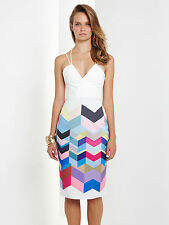 Ministry of Style by Bebe Sydney Calculus Fitted Dress - BNWT - RRP AUD$169.95