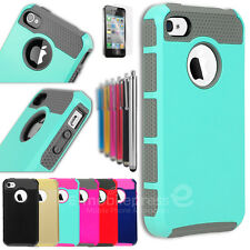 For iPhone 4 4S Colorful Color PC Shockproof Dirt Dust Proof Hard Cover Case
