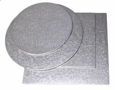 Silver 2mm Cake Boards Round And Square -