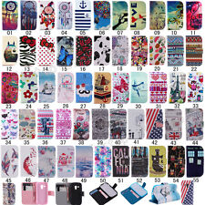 Fashion Flip Printed PU Leather Holder Case Cover For Samsung S7580 S7582 S7562