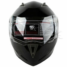 New DOT Gloss Black Modular Flip Up Dual Visor Motorcycle Helmet Size S M L XL