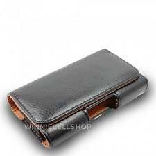 PREMIUM Leather Sideways Belt Clip Case Pouch Cover Holster for Sony Cell Phones