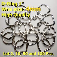 """Lot 2 10 50 100 Pcs 1"""" D Rings One Inch Dee Rings Webbing Strapping Wire 4mm"""