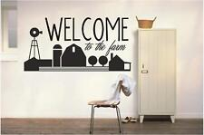 WELCOME to the farm - Wall Decals Quotes - Entry Way Room Vinyl Stickers