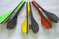 SILLIN CARBONO carbon saddle sattel 96gr WHITE-RED-YELLOW-GREEN 143x274mm