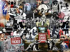 Banksy Collage Art BCA01 Giant Large Wall Art Pic Poster A0 A1,A2,A3,A4