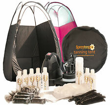 RapidtanPRO HVLP Airbrush Spray Tanning Kit - machine, Choose Tent,7x Tan &25Pcs