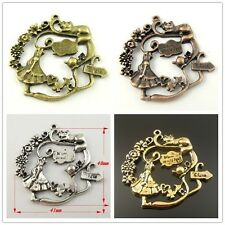 New Alice Wonderland Where To Go Alloy Charm Pendant Finding Hot 41*40*3mm 10pcs