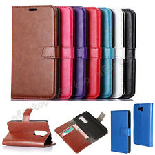 Fashion Classic ID Card Wallet Flip Stand/Holder PU Leather Cover Case For LG