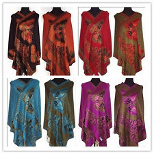 HOT Sale Chinese Lady Double-Side Butterfly Pashmina Scarf Wrap Shawl Cape