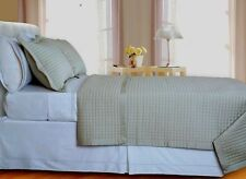 Beige Tan Checkered Coverlet Bedspread Set Egyptian Cotton 400TC Reversible