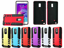 Hybrid Shockproof Rugged Rubber Hard Armor Case Cover For Samsung Galaxy Note 4