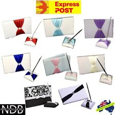 2 Piece Wedding Guest Book Set with Pen and Holder EXPRESS