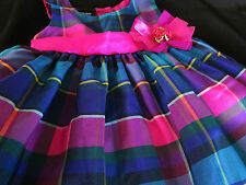 Baby Girl Dress Princess Holiday Christmas 12 Mo 18 Mo 24 Mo Multi-Color New A13