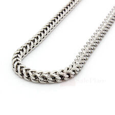 """24"""" 30"""" 36"""" Mens 6mm Silver Stainless Steel Franco Cuban Box Chain Link Necklace"""