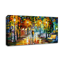 Romantic Night Stretched Canvas Prints Framed Wall Art Decor Abstract Painting