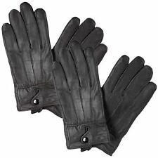 Mens Ladies Leather Gloves Thermal Fleece Lined Soft Warm Winter Driving Glove