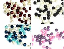 150 6mm MIXED ROUND JEWELLERY CRAFT GLASS PEARL MIX BEAD MIXES