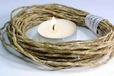 WAXED HEMP CORD -TWINE   Organic bees wax Crafts -e -wick- candle holds flame-