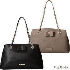 Women Shoulder bag Taupe Black LOVE MOSCHINO Faux Leather Handbag