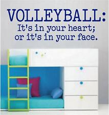 VOLLEYBALL: It's in Your Heart - Vinyl Wall Decals - Sports Stickers