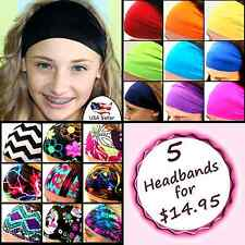 Bolder Bigger Wider Headbands Set of 5! Hair Band Great Styles Sports Fashion