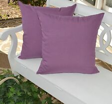 2 Pack ~ Lilac Lavender Purple Decorative Indoor Outdoor Throw Toss Pillow USA